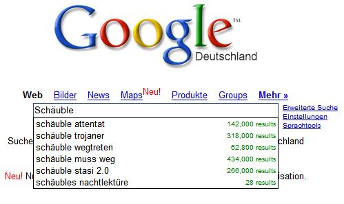 Google-Suche nach Schäuble